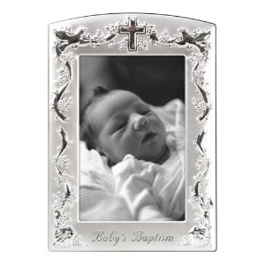 Malden Baptism Two Tone Picture Pewter