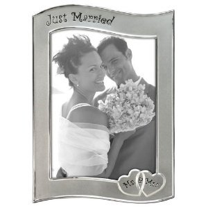 Pewter Just Married Malden 5x7