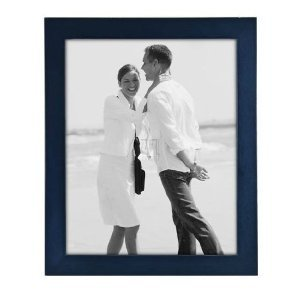8x10 Picture Frame Linear Blue