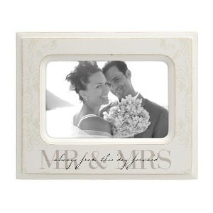 Mrs Script Engraved Keepsake Frame