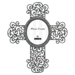 Malden Scroll Cross Picture Pewter