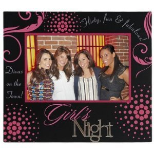 Girls Night Black Expressions Frame
